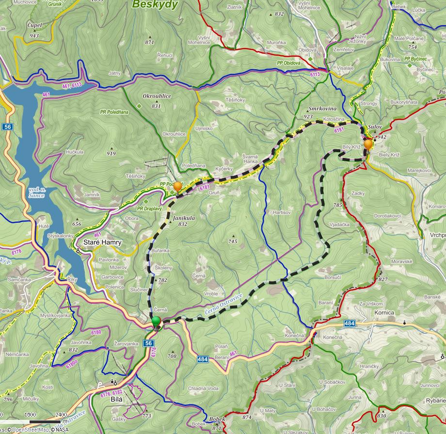 ostravice_mapa